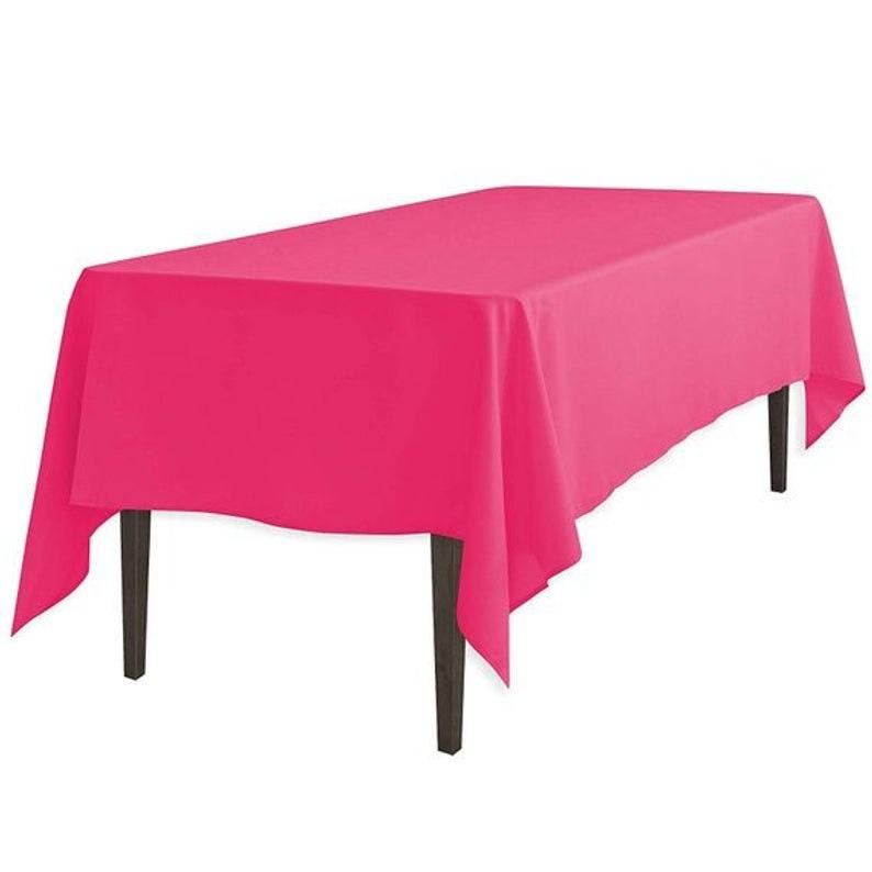 Fuchsia2019 Polyester Tablecloth58 x 120-Inch Rectangular  DecorationFashionPartyOutdoorTableclothsRunnersDecor