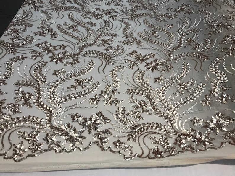 LACTYFABRIC Luxurious Sequins 4 way stretch by the yardNew Champagnetablecloths customs,runner,wedding,decorations,dresses night gowns