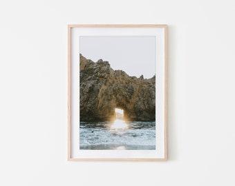 Keyhole Rock, Big Sur, Ocean Wall Art, California Wall Art, Fine Art Prints, Minimalist Wall Art Print, Modern Wall Decor, Nature Print