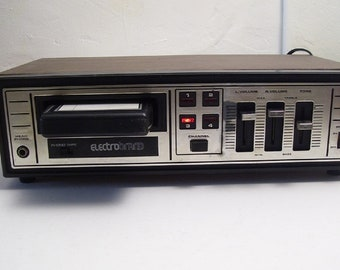 electrobrand 8-track player w/ phono input  plug it in, then- plug them in