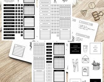 Printable Bullet Journal Kit - Back to Basics  - planner kit, journal kit, bullet journal kit, planner set, digital download, printable