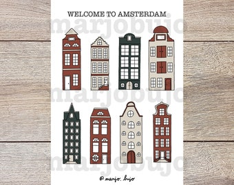 Printable Sticker Sheet - Welcome To Amsterdam - stickers, sticker sheet, printable, digital download, print at home, journal stickers