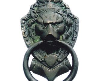 Aakrati Brassware Door Knocker Of Lion Face   Meta Antique Finish Door  Hardware Fitting Great Knocker For All Door   Unique Idea For Gift