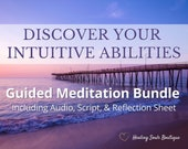 Guided Meditation Script, Audio, & Reflection Sheet for Psychic Development, Meditation Teachers, Personal Development, Intuition