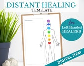 DISTANCE HEALING TEMPLATE (Left Handed), Energy Healing Proxy, Distant Reiki Template for Healers,