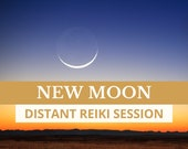 NEW MOON Distant Reiki Session, Chakra Balance, Energy Healing for New Beginnings, Distance Reiki, Self Care Gift, Personal Growth