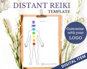DISTANT HEALING TEMPLATE, Custom Branded, Energy Healing, Proxy, Tools for Healers, Reiki Printable, Usui Reiki,
