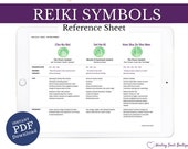 Reiki Symbols Printable, Reiki Tools, Reiki PDF for Reiki Practitioner & Reiki Master, Template, Reference Guide, Healer, Cho Ku Rei, Usui