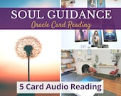 Self Empowerment 5 Card Intuitive Reading, Oracle Card Messages, Audio Reading, For Soul Guidance & Personal Growth,