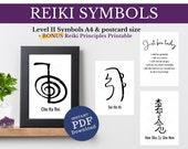 Reiki Symbol Download, Reiki Room Decor, Cho Ku Rei Poster, Sei He Ki, Hon Sha Ze Sho Nen, Reiki Principles, Reiki Art for Healers Room