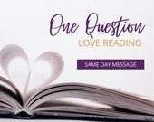One Question Reading, Love & Relationship Guidance, Mini Reading, Psychic Love Reading, SAME DAY, Romance Angel, Twinflame Psychic, Accurate