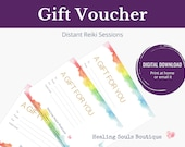 Distance Reiki GIFT VOUCHER, Energy Healing & Self Care Gifts, Intuitive healing for Wellbeing, Unique Mothers Day Gift Ideas