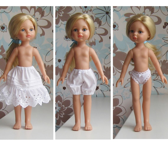 Underwear Paola Reina, Panties for Paola Reina, Panties for dolls, Petticoat for dolls, Doll Paola Reina, Dolls clothes, Drawers for dolls