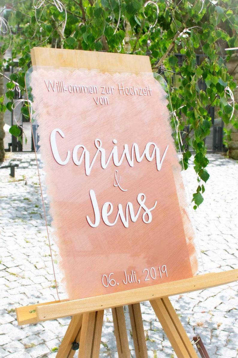 Hochzeit Acryl Schild personalisiert