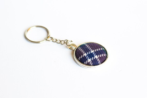 Scottish Multi Coloured Tartan Scottie Dog Scotland Bag Purse Keyring Charm