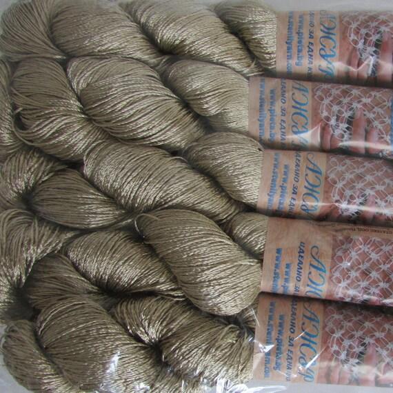 yarn for decorasione Viscose rayon silk yarn for crochet and knitting vegan thin yarn