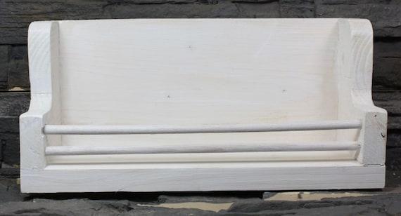 Spice board white vintage solid wood Spice rack 35 cm