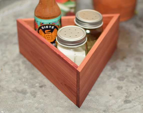 Cedar Spice Box - Jar Holder - Kitchen Storage Box - Handmade in USA - Aromatic Cedar Wooden Box - Perfect Housewarming Gift
