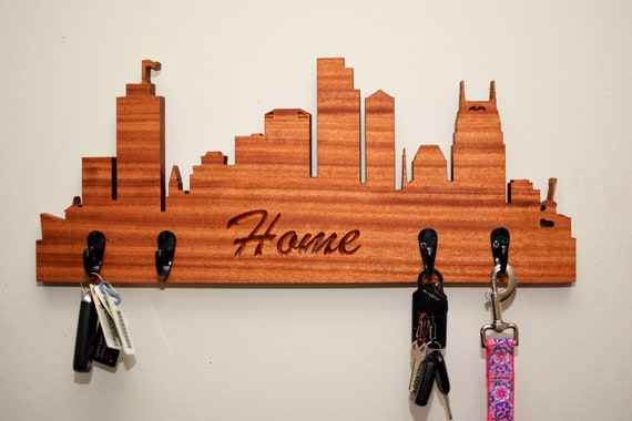 Nashville Skyline Key Holder - Wall Mounted Hallway Key Hook