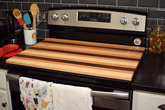Custom Stove Cover Board, Handmade Wooden Stove Top, Noodle Board