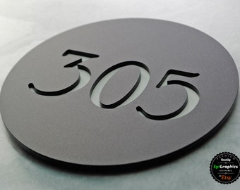 Round Shape sign for Hotel signage / Room number sign / Apartment door sign.