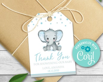 Baby Girl Shower Tags Personalized Tags Elephant Tags Baby Sprinkle Tags Baby Elephant Gift Tags:  Baby Shower Tags Gift Tags