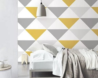 Incredible Yellow Wallpaper Etsy Interior Design Ideas Gentotryabchikinfo
