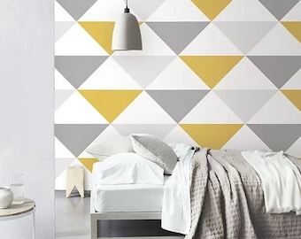 Phenomenal Yellow Wallpaper Etsy Interior Design Ideas Gentotryabchikinfo