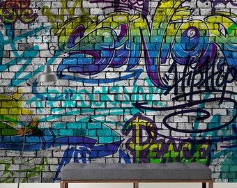 Graffiti Wallpaper Etsy
