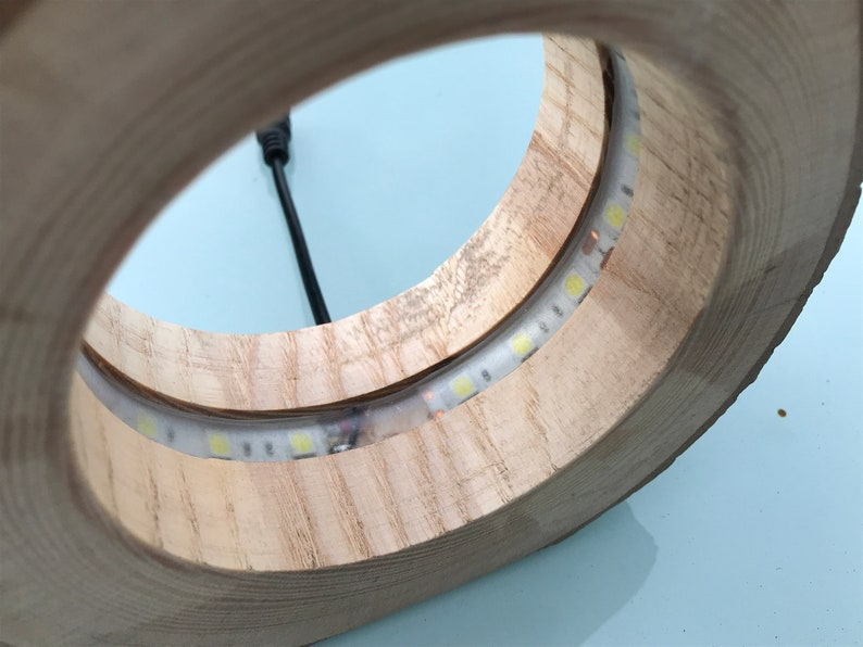 Bedside Light Up-Cycled Wood Wooden Log Light Hollow Wooden Light Small LED Light
