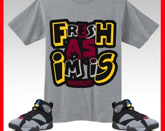 e9a36b9d968cea Fresh As Im Is T-Shirt to match Jordan 7 Bordeaux sneakers Short-Sleeve  Unisex T-Shirt