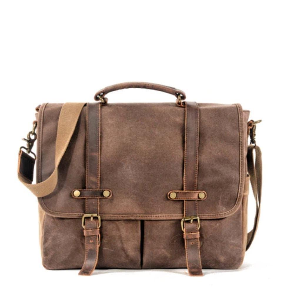 32fa7e3b8f6a Waxed Canvas Leather Messenger Bag/Cross body Bag/Mens Laptop Messenger  Bag/Briefcase/Wax canvas bag/Camera Bag/DSLR Bag/Gift for Men