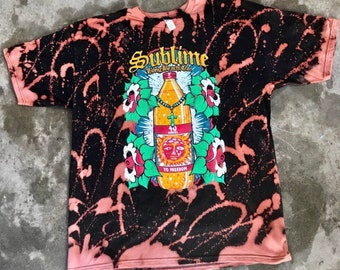 4bfd88672144e Sublime 40 ounce bleached t shirt tee new