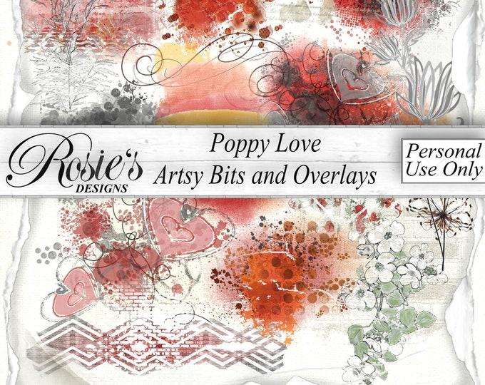 Poppy Love Artsy Bits and Overlays