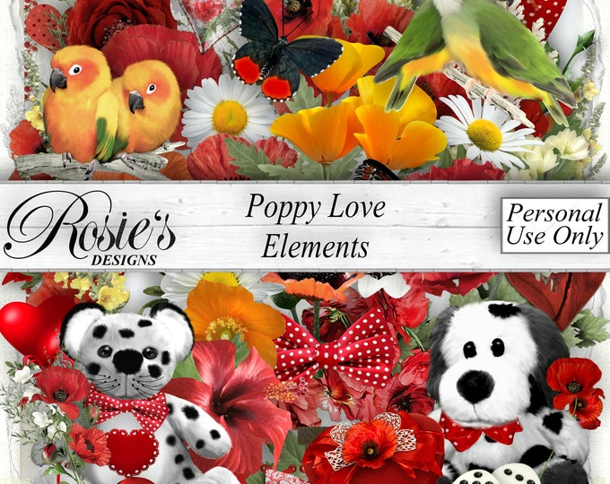 Poppy Love Elements