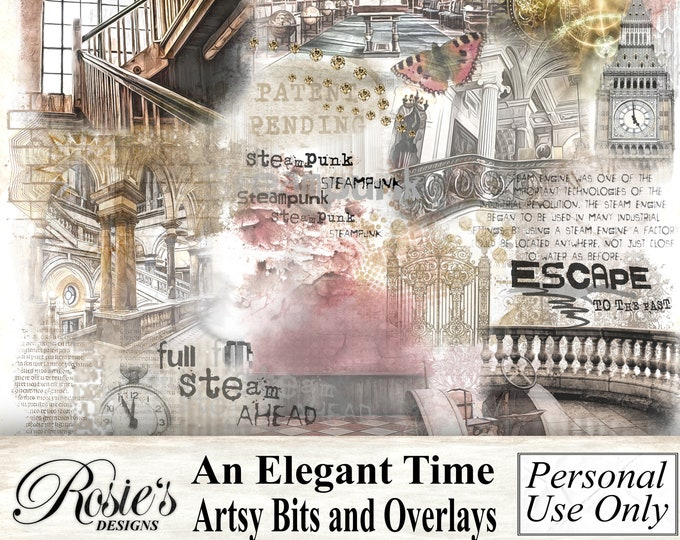 An Elegant Time Artsy Bits and Overlays