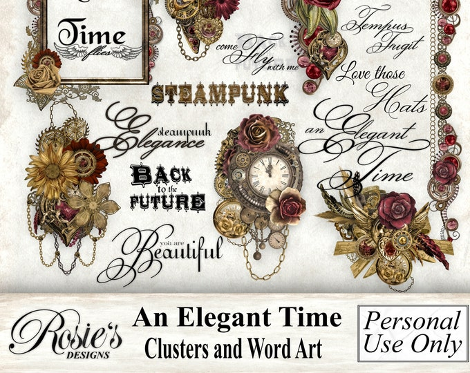 An Elegant Time Clusters and Word Art