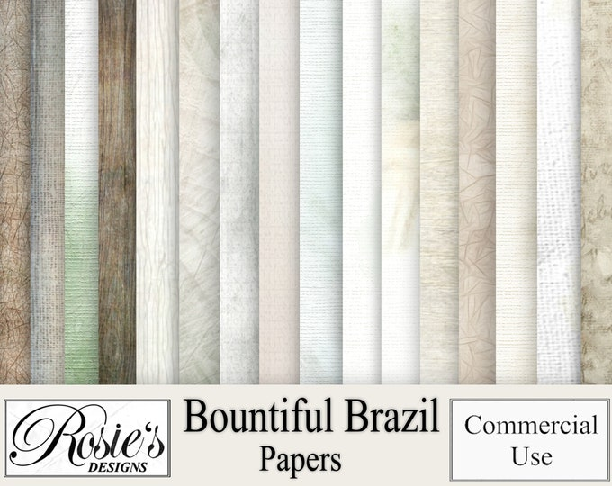 Bountiful Brazil Papers for Commercial Use