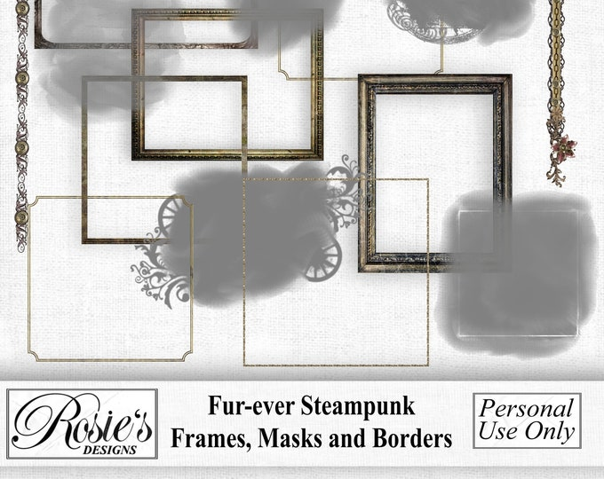 Fur-ever Steampunk Frames, Masks and Borders