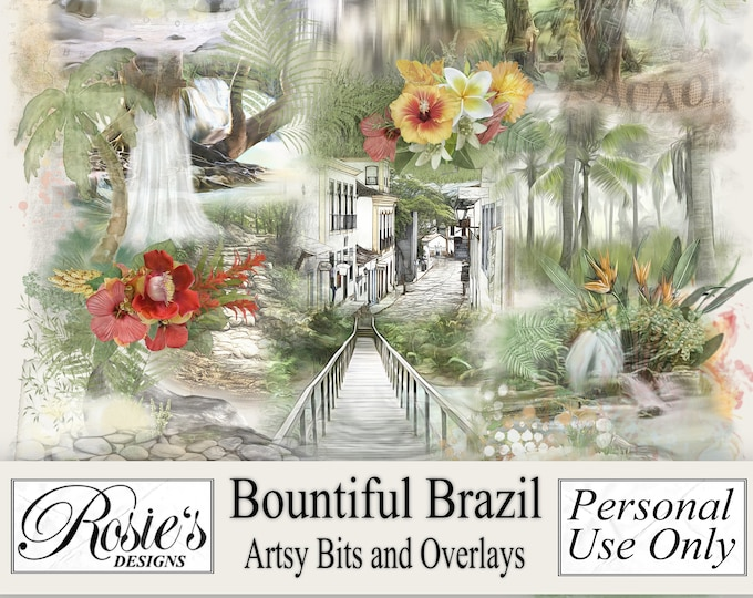 Bountiful Brazil Artsy Bits and Overlays