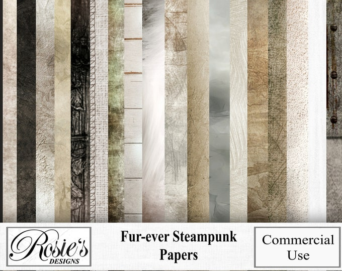 Fur-ever Steampunk Papers for Commercial Use