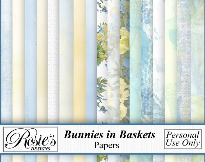 Bunnies in Baskets Papers