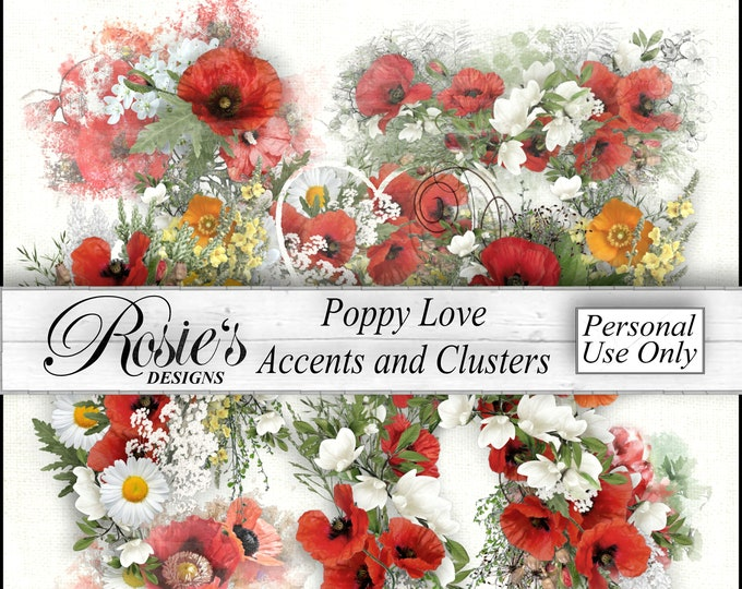 Poppy Love Accents and Clusters