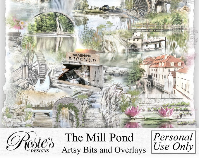 The Mill Pond Artsy Bits and Overlays Personal Use