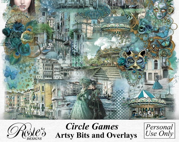 Circle Games Artsy Bits and Overlays Personal Use