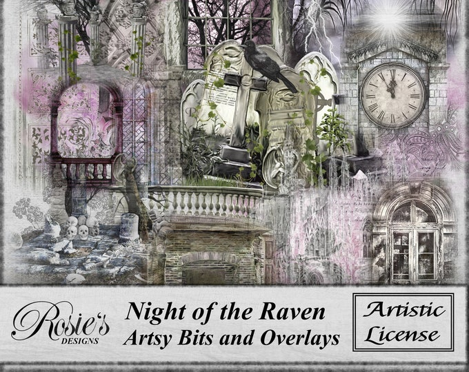 Night of the Raven Artsy Bits and Overlays - Artistic License