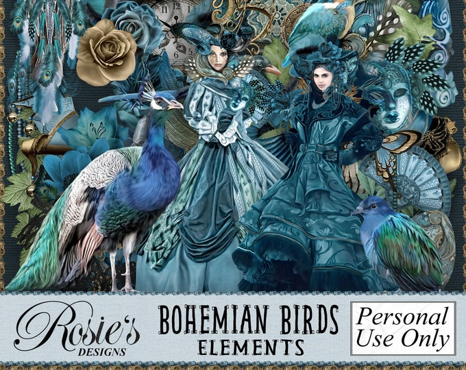 Bohemiam Birds Elements Personal Use
