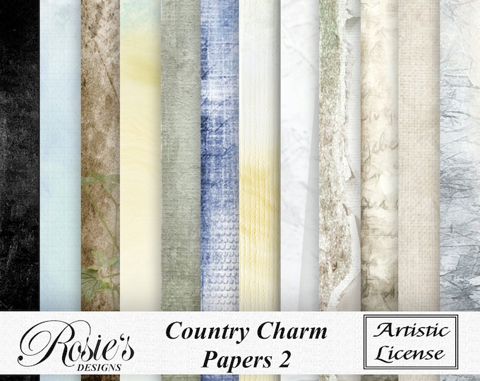Country Charm Papers 2 Artistic License