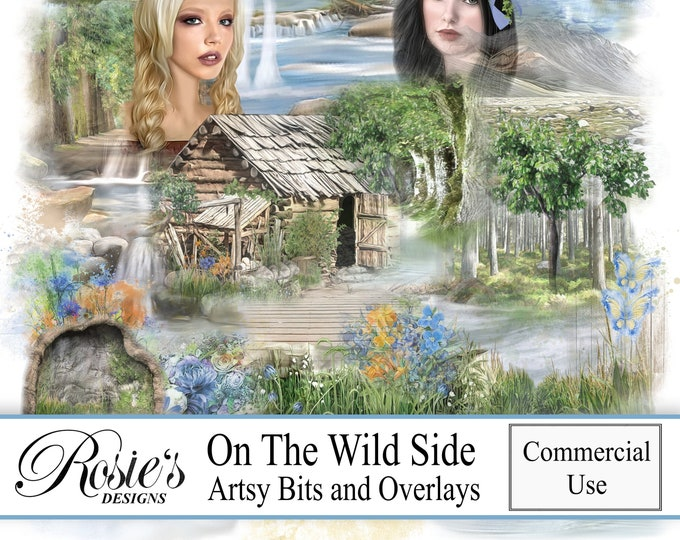On The Wild Side Artsy Bits and Overlays