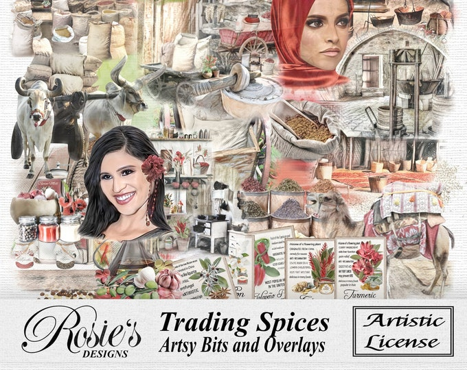 Trading Spices Artsy Bits and Overlays Artistic License